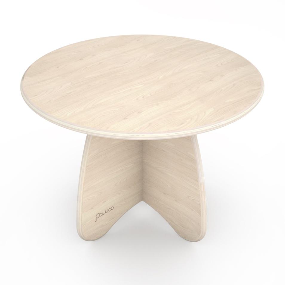 tavolino design tondo in legno per bambini
