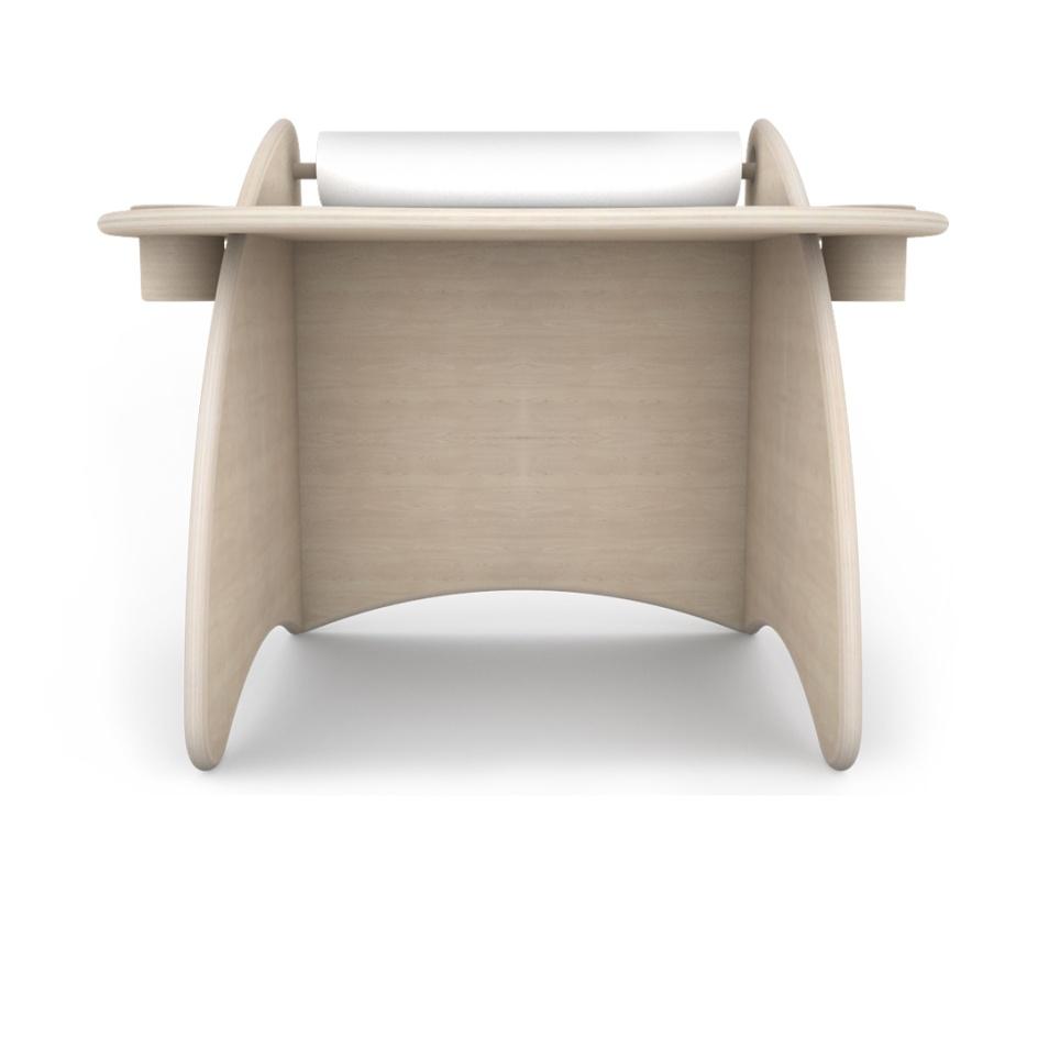 scrivania attrezzata di design in legno per bambini