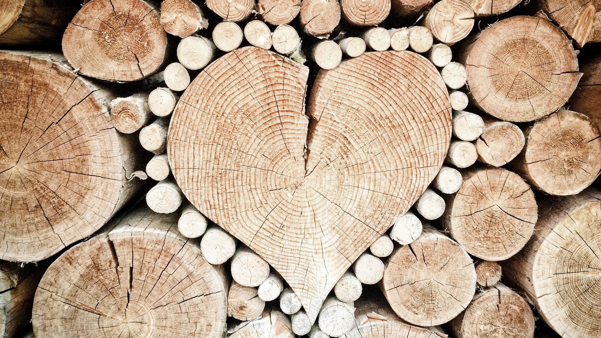 ciocchi legno cuore