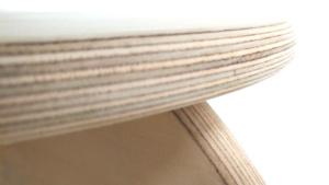 bordo arrotondato sgabello pawoo in multistrato di betulla