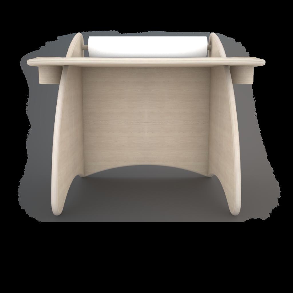 vista frontale lettino basso in legno stile montessori