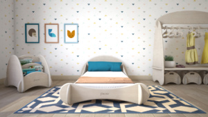 camera da letto per bambini stile montessori in legno