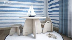 camera gioco per bambini montessori in legno
