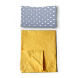coordinato letto azzurro e giallo