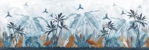 carta da parati per bambini tropicale blu